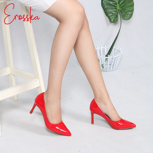Giày Cao Gót Thời Trang Nữ Erosska EH017 Màu Đỏ