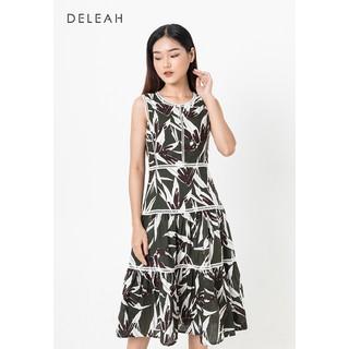 De Leah - Đầm Xoè Ren Thang - Xanh lá - VL1816061Xn thumbnail