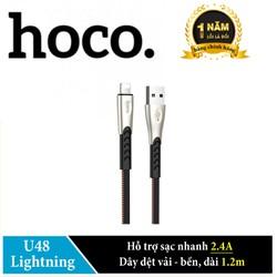 Cáp sạc USB Type C Hoco U48 sạc nhanh 2.4A dài 1.2m. Hãng phân phối chính thức
