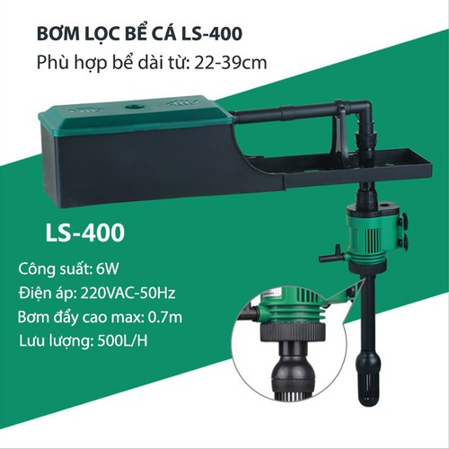 Bộ máy bơm lọc nước bể cá cảnh kiêm cung cấp khí LS400, bơm không chổi than 6W-220V - 8089519 , 17732045 , 15_17732045 , 359000 , Bo-may-bom-loc-nuoc-be-ca-canh-kiem-cung-cap-khi-LS400-bom-khong-choi-than-6W-220V-15_17732045 , sendo.vn , Bộ máy bơm lọc nước bể cá cảnh kiêm cung cấp khí LS400, bơm không chổi than 6W-220V