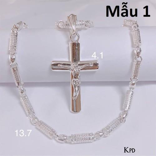 Bộ dây chuyền bạc mặt thánh giá cho nam Mẫu 1 - 4918114 , 17722652 , 15_17722652 , 1300000 , Bo-day-chuyen-bac-mat-thanh-gia-cho-nam-Mau-1-15_17722652 , sendo.vn , Bộ dây chuyền bạc mặt thánh giá cho nam Mẫu 1