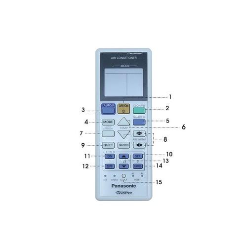 Điều khiển điều hòa panasonic inverter 2 chiều cho gia đình