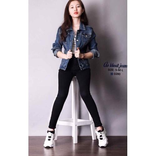áo khoát jeans nữ - 8128844 , 17746792 , 15_17746792 , 280000 , ao-khoat-jeans-nu-15_17746792 , sendo.vn , áo khoát jeans nữ