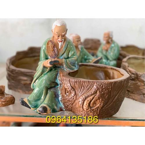 Tượng tiên ông đọc sách bên chậu cây gốm sứ Bát Tràng - 8139063 , 17754178 , 15_17754178 , 350000 , Tuong-tien-ong-doc-sach-ben-chau-cay-gom-su-Bat-Trang-15_17754178 , sendo.vn , Tượng tiên ông đọc sách bên chậu cây gốm sứ Bát Tràng