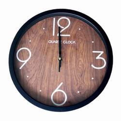Đồng hồ treo tường Cao cấp Quartz vân gỗ