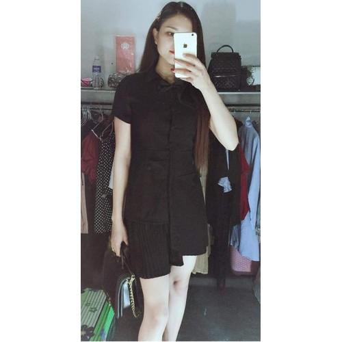 đầm sơmi đen