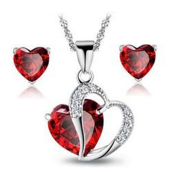 Bộ trang sức 2 món trái tim BHB66