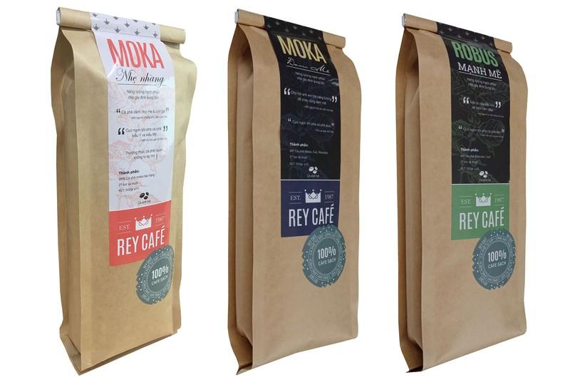 Cà phê Robus Mạnh Mẽ - Gói 500gr - Thành phần hạt Robusta & Culi nguyên chất có bơ - Thương hiệu Rey Cafe 3