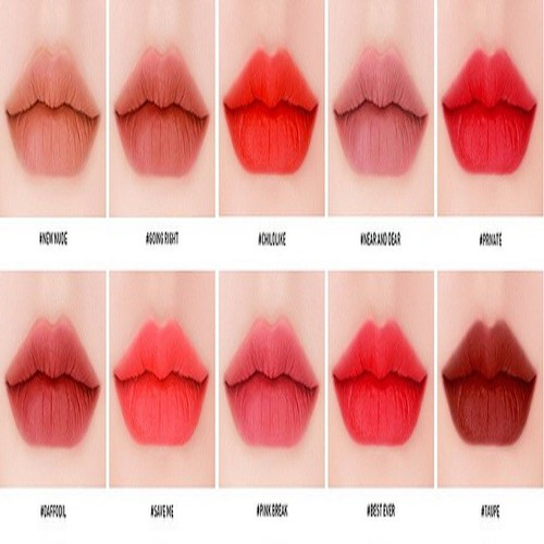 SON KEM LÌ 3C.E STYLENANDA VELVET LIP TINT Child Like - đỏ cam