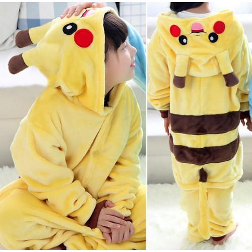 Bộ body hinh thú pokemon bé trai và gái 3-12 tuổi