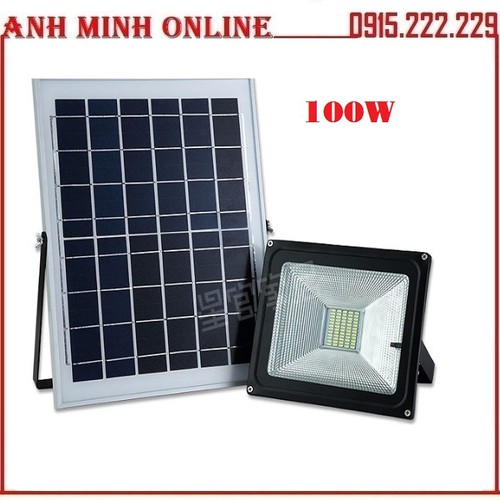 Đèn Led Năng Lượng Mặt Trời Chiếu Sáng Ngoài Trời IP65 100W