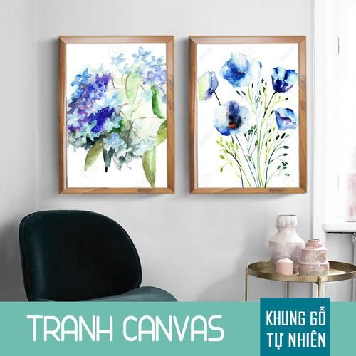 Tranh Canvas trang trí văn phòng phong cách trang nhã, Tranh Canvas in 4K cao cấp khung  gỗ  thông tự nhiên