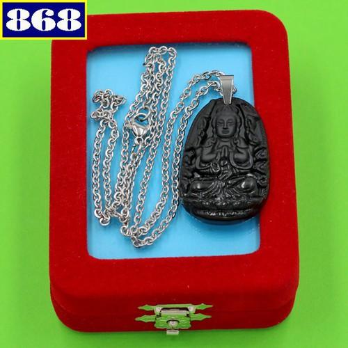 Dây chuyền Phật Thiên Thủ Thiên Nhãn 3.6 đen DITTEB8 hộp nhung