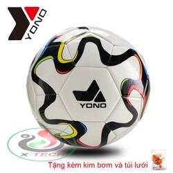 Quả bóng đá YONO số 5 – Banh Đá Da Cao Cấp Size 5 – Qua Bong da – Trai banh Tiêu chuẩn thi đấu, Tặng kèm kim bơm và túi lưới