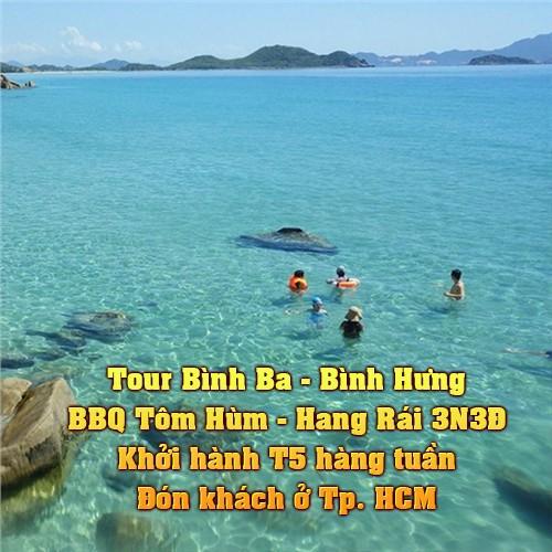Voucher du lịch, Tour Bình Ba - Bình Hưng - BBQ Tôm Hùm - Hang Rái 3N3Đ