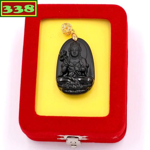 Mặt dây chuyền Phật Đại Thế Chí Bồ Tát đen 3.6 cm kèm hộp nhung size nhỏ - Hộ mệnh tuổi Ngọ