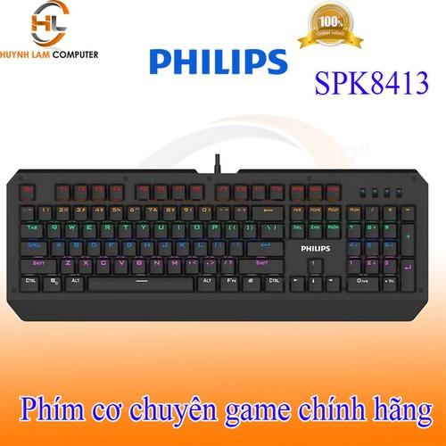Phím cơ chuyên game philipss 8413 có dây bấm rất đã hãng phân phối