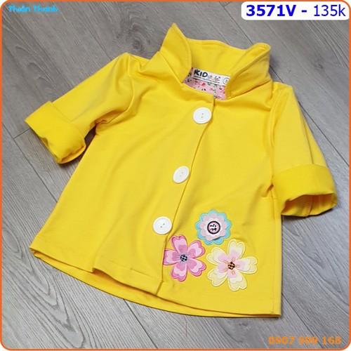 Áo khoác cổ sen thêu hoa xinh xắn cho bé mùa hè_ 3571