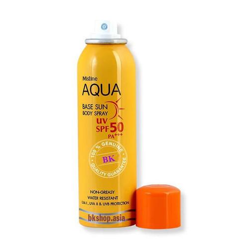 Kem Chống Nắng Dạng Xịt Mistine Aqua Base Sun Body Spray UV SPF50 PA+++ 100ml - Chính Hãng - 7704657 , 17786358 , 15_17786358 , 198000 , Kem-Chong-Nang-Dang-Xit-Mistine-Aqua-Base-Sun-Body-Spray-UV-SPF50-PA-100ml-Chinh-Hang-15_17786358 , sendo.vn , Kem Chống Nắng Dạng Xịt Mistine Aqua Base Sun Body Spray UV SPF50 PA+++ 100ml - Chính Hãng