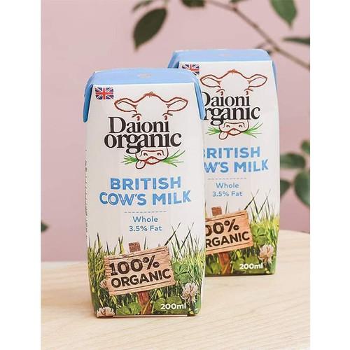 Sữa tươi hữu cơ nguyên kem Daioni 200ml
