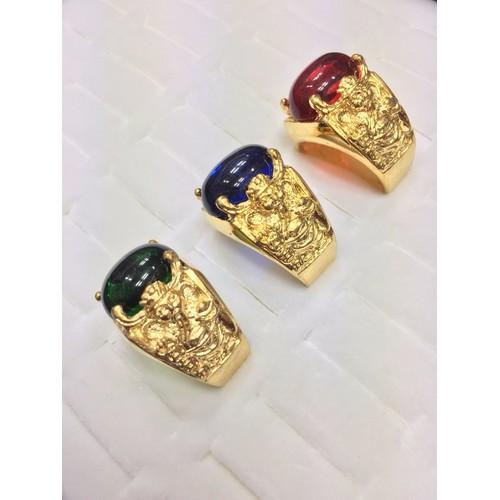 Nhẫn nam thần tài đá đủ màu dát vàng 24k - 7604803 , 17784562 , 15_17784562 , 239000 , Nhan-nam-than-tai-da-du-mau-dat-vang-24k-15_17784562 , sendo.vn , Nhẫn nam thần tài đá đủ màu dát vàng 24k