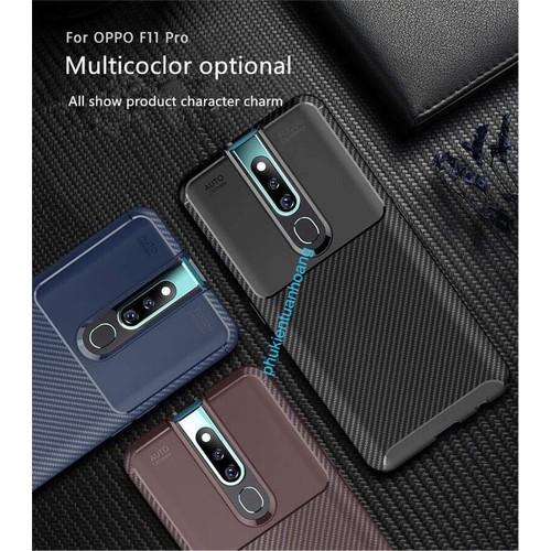 Ốp lưng Oppo F11 Pro Film Fiber Case chống bám vân tay