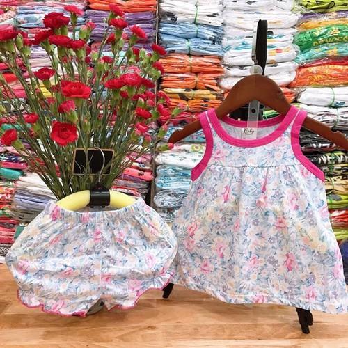 Bộ cotton bé gái từ 7kg-20kg
