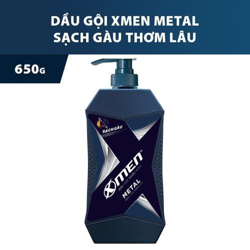 DẦU GỘI X-MEN METAL SẠCH GÀU THƠM LÂU 650G