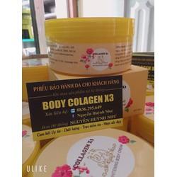 kem duong trang da body collagen x3 CAM KET CHINH HANG