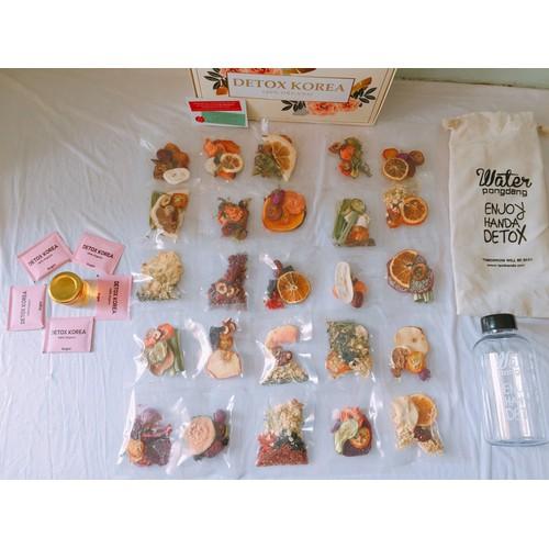 SET VIP - 30 Gói Trà Detox hoa quả sấy khô, DETOX KOREA - Không kèm bình, hộp, túi vải CÓ ẢNH THẬT