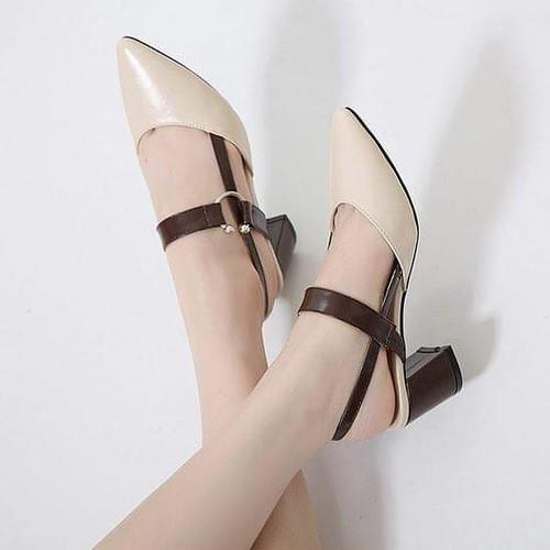 Giày sandal cao gót mũi nhọn