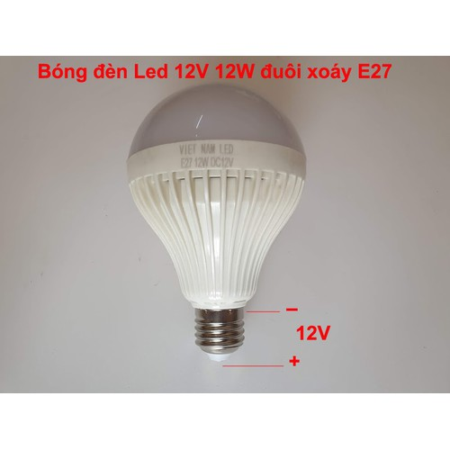 Bóng đèn Led 12v 12W đuôi xoáy E27, vnled.vn, vietnamled.vn, đt 0936395395