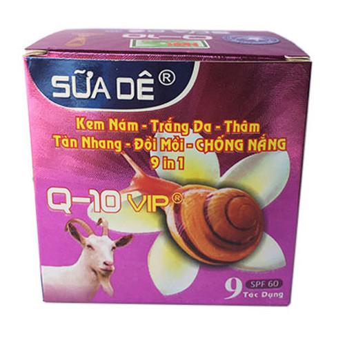 kem Q10 Ốc Sên Sữa Dê - Kem trị nám trắng da trị thâm tàn nhang đồi mồi chống nắng 9 tác dụng vip