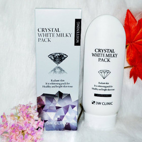 Kem kích trắng dưỡng trắng 3W Clinic Crystal White Milky Pack 200g - kt3w