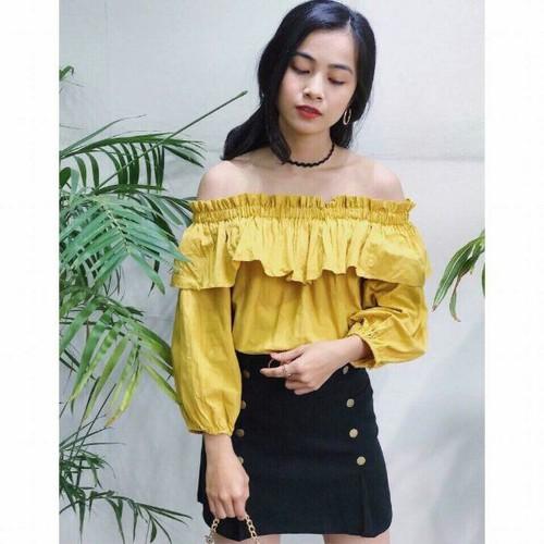 áo voan nữ model