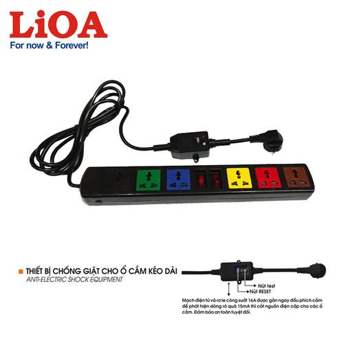 Ổ cắm kéo dài đa năng có thiết bị chống giật 6 ổ LiOA 3m x 3 - 8229970 , 17784323 , 15_17784323 , 351000 , O-cam-keo-dai-da-nang-co-thiet-bi-chong-giat-6-o-LiOA-3m-x-3-15_17784323 , sendo.vn , Ổ cắm kéo dài đa năng có thiết bị chống giật 6 ổ LiOA 3m x 3