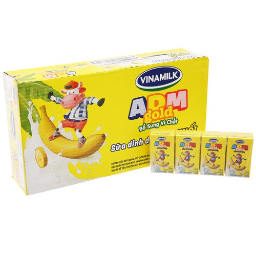 Thùng 48 hộp sữa tiệt trùng Vinamilk ADM Gold hương chuối 110ml