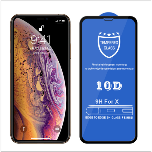 Kính cường lực 10D Full màn hình điện thoại iPhone X
