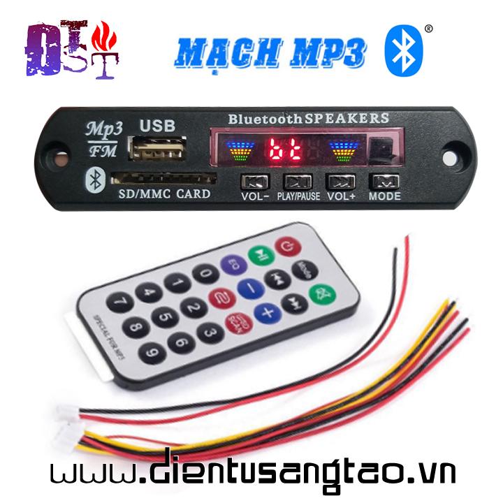Mạch Giải Mã MP3 USB TF AUX Bluetooth 7 - 12V DC