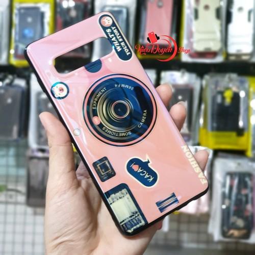 Ốp lưng Samsung Galaxy S10 Plus,ốp lưng hình máy ảnh kèm giá đỡ và dây đeo