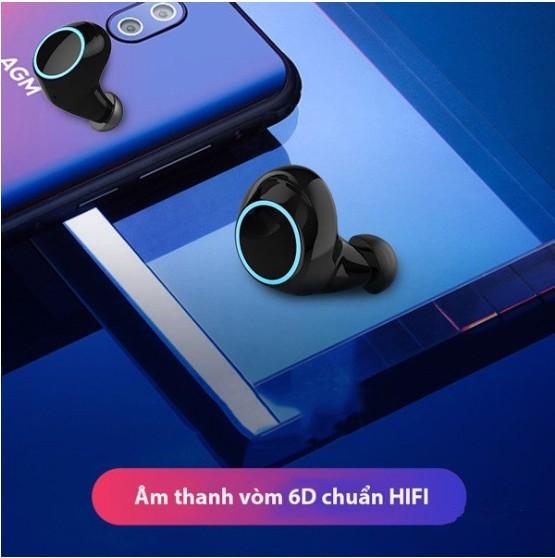 Tai nghe Bluetooth E8 nhét tai hộp đựng tích hợp sạc - Home and Garden - 8