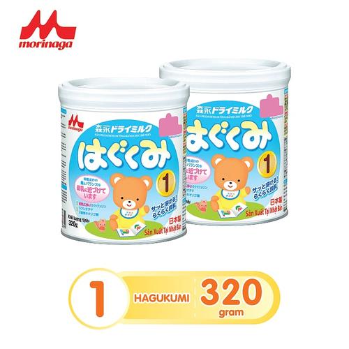 Combo 2 lon sữa Morinaga số 1 Hagukumi 320gr