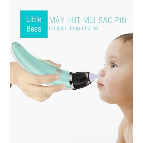 Máy hút mũi điện tử đầu mềm cho bé LittleBees, Máy hút mũi cho bé tự động, an toàn - Kmart