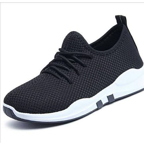 Giày Sneaker Nữ Và Nam Giày Cặp Đôi Đế Siêu Êm Đen Đế Trắng TTS 2