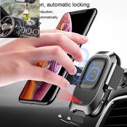 Đế giữ điện thoại trên xe hơi tích hợp sạc không dây Baseus tặng lọ tinh dầu tự nhiên treo xe