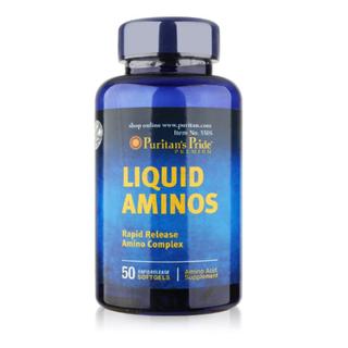 Viên uống tăng cường sức khỏe Puritan s Pride Liquid Aminos 50v, viên uống hỗ trợ tiêu hóa, giúp tăng cân - VTM-AMINOS thumbnail