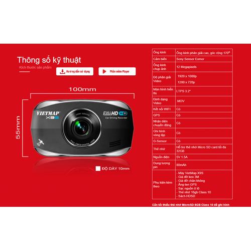 Camera VIETMAPp X9S