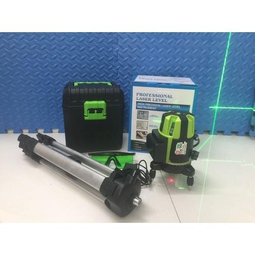 Máy cân bằng laser 5 tia xanh-kèm chân máy -Bh 6 tháng
