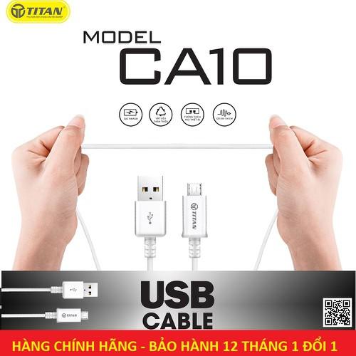Cáp sạc Micro USB Titan CA10 dài 1.5M - Bảo hành 12 tháng