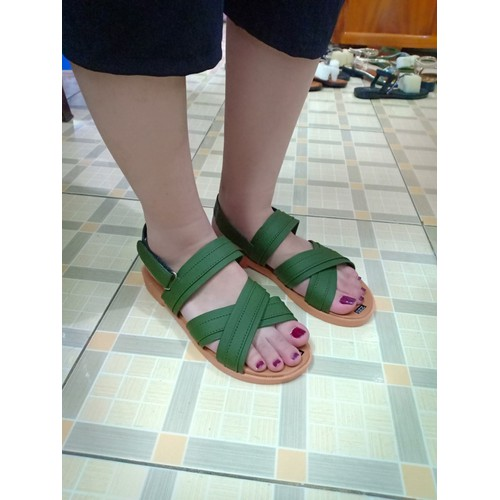 Giày sandal nữ đế bệt 235| Bảo hành keo